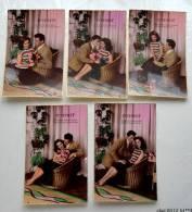 FANTAISIE  - COUPLE....Intimité..... Lot De 5 Cartes Differentes - Parejas