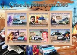 Gu08106 Guinea 2008 Transport Oil Crisis S/s Cars & Celebrities - Petrolio