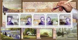 Gu0933a Guinea 2009 Paintings Of Georges Pierre Seurat S/s Horse Ship - Impressionisme