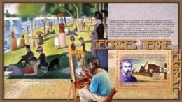 Gu0933b Guinea 2009 Paintings Of Georges Pierre Seurat S/s Dog - Impressionisme