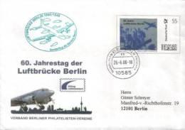 Germany - Ganzsache Umschlag Echt Gelaufen / Cover Used (C238) - Airplanes