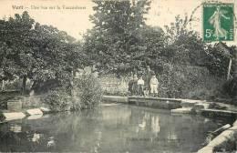 Cpa, Vert, Vue Sur Vaucouleurs, Animée - Otros Municipios