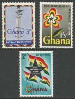 Ghana. 1961 First Anniv. Of Republic. MH Complete Set - Ghana (1957-...)