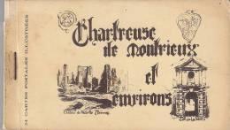 CHARTREUSE DE MONTRIEUX ET ENVIRONS(ruines Du Chateau DeTOURVES) CARNET DE 24 CARTES COMPLET - Autres Communes