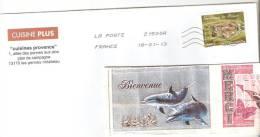 "ENVELOPPE AVEC TIMBRE ANNEE 2012 FRANCE ""FORTERESSE DE SALSES"" OBLITERE - France"