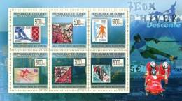 gu0967a Guinea 2009 Winter Games Olympic Stamps on Stamps s/s SOS