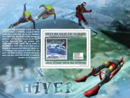 gu0967b Guinea 2009 Winter Games Olympic Stamps on Stamps s/s SOS