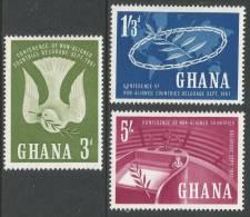 Ghana. 1961 Belgrade Conference. MH Complete Set - Ghana (1957-...)