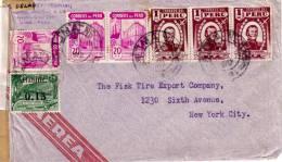 GUERRE 39-45 - PEROU - CENSURE EXAMINED BY 4501 - LETTRE POUR NEW YORK EN 1942. - Pérou