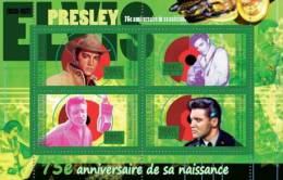 gu10519a Guinea 2010 75th Anniversary of Elvis Presley s/s