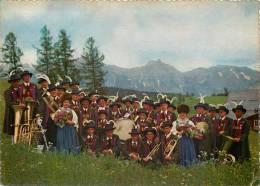 Burger Musikkapelle Seefeld, Tirol, Austria Postcard Used Posted To UK 1960 Stamp - Zonder Classificatie