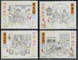 2000 Macau/Macao Stamps -Chinese Tea Ceremony Teapot Bird Fish Dog Furniture Bonsai - 1999-... Chinese Admnistrative Region