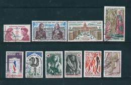 France Timbres De 1973  N°1773 Au N°1782  Oblitéré - France