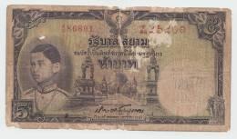 THAILAND 5 BAHT 1939 VG+ P 32 - Thailand