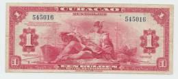 """CURACAO 1 GULDEN 1942 """"F++"""" P 35a 35 A - Netherlands Antilles (...-1986)"""