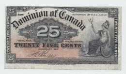 CANADA 25 CENTS 1900 VF+ (2 Pibholes) P 9b 9 B - Kanada