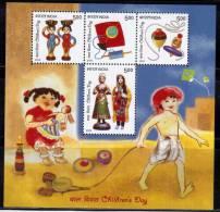 India Miniature MNH 2010, Childrens Day, Toy, Kite, Games, Etc., - Giochi