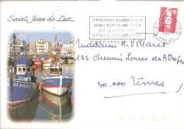 Reliure D\'art En Pays Basque Sur Enveloppe Saint-jean De Luz-1993 - Marcophilie (Lettres)