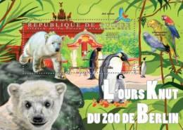 gu11525b Guinea 2011 Polar Bear Parrot Penguin Horse s/s Zoo Berlin