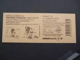 FRANCE 2012 CARNET DE 12 POLENESIE FRANCAISE Avec Double Carre Noire  MNH **  (10422-720) - Carnets