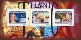 Gu12101a Guinea 2012 Titanic Ship S/s Celine Dion E.J.Smith L.DiCaprio - Cinéma
