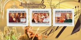Gu12106a Guinea 2012 Music Joseph Haydn S/s - Guinee (1958-...)