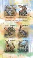 m11406a Mozambique 2011 Hares s/s Rabbit