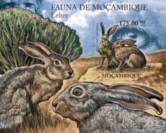 m11406b Mozambique 2011 Hares s/s Rabbit