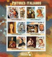 M11523a Mozambique 2011 The World Of Paintings Italian Paintings S/s Michelangelo Buonarroti Caravagio - Other