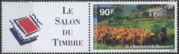 1994 New Caledonia Nouvelle Caledonie Le Salon Du Timbre, Sheep, Local Landscape 1v+label  MNH - Nuova Caledonia