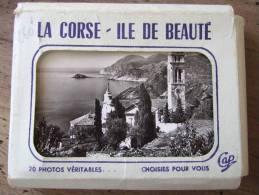 LA CORSE / ILE DE BEAUTE /  JOLI  PETIT CARNET DE 20 CARTES PHOTOS / TOUTES LES PHOTOS - Corse