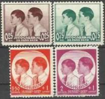 YU 1937-330-3 CHILDREN´S AID, YUGOSLAVIA, 1 X 4v, MH - Kind & Jugend