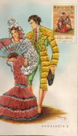 Carte Brodée : Costume Régional : Torrero , Andalousie 6 - Bestickt