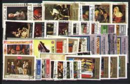 Nice Set 40 Grand Format World Used - Theme Arts - Portraits - Postzegels