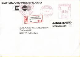 Nederland -  Aangetekend/Recommandé Brief Vertrek Amsterdam - Aantekenstrookje Amsterdam 2e Helmersstraat 818 - Poststempel