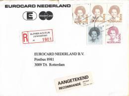 Nederland -  Aangetekend/Recommandé Brief Vertrek Alpen A.d. Rijn - Aantekenstrookje Alphen A.d. Rijn Julianastraat 1901 - Poststempel