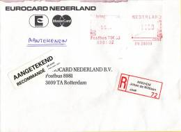 Nederland -  Aangetekend/Recommandé Brief Vertrek Arnhem - Aantekenstrookje Arnhem Johan De Wittlaan 72 - Poststempel