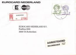 Nederland -  Aangetekend/Recommandé Brief Vertrek Enschede - Aantekenstrookje Enschede 2756 - Poststempels/ Marcofilie