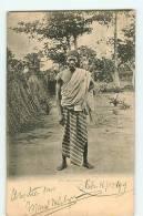 Dahomey : Un Dahoméen. Dos Simple. 2 Scans. - Dahomey