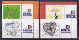 PERS 12 - Timbres Personnalisés N° 3569A -3688A - 3632/33A Neufs** Logo Timbres Personnalisés - France