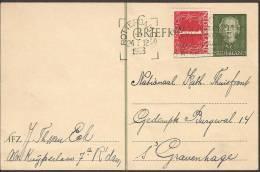 Briefkaart 1950 Geuzendam Nr 244 Met Bijfrankering - Postal Stationery