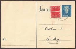 """Briefkaart 1949 Geuzendam Nr 246 Met Bijfrankeringen Rood  """"""""WX""""""""stempeltje - Postal Stationery"""