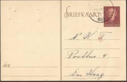 """Briefkaart 1953 Geuzendam Nr 248 Met Rood """"""""WU""""""""stempeltje - Postal Stationery"""