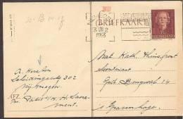 "Briefkaart 1953 Geuzendam Nr 248 Met Rood """"WB""""stempeltje - Postal Stationery"