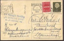 Briefkaart 1954 Geuzendam Nr 257 Met Bijfrankering - Postal Stationery