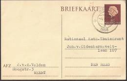 "Briefkaart 1957 Geuzendam Nr 261 Met Rood """"VB"""" Stempeltje - Postal Stationery"