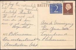 Briefkaart 1959 Geuzendam Nr 269 Met Bijfrankering - Postal Stationery