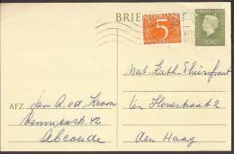 Briefkaart 1971 Geuzendam Nr 290b. Fosfor Balk Over Midden Zegel. Met Bijfrankering - Postal Stationery