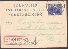 """Verhuiskaart 1950 Geuzendam Nr 19 """"""""Bericht Van Adreswijziging"""""""" Op Roomkleur - Postal Stationery"""