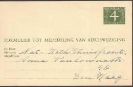 Verhuiskaart 1957 Geuzendam Nr 23 - Postal Stationery